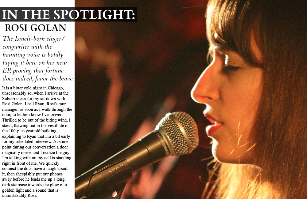 IN THE SPOTLIGHT: ROSI GOLAN