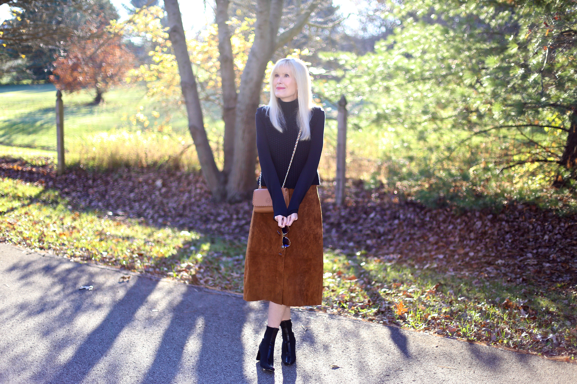 The Suede Midi Skirt