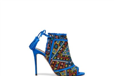Aquazzura Colorado Embroidered Suede Sandals