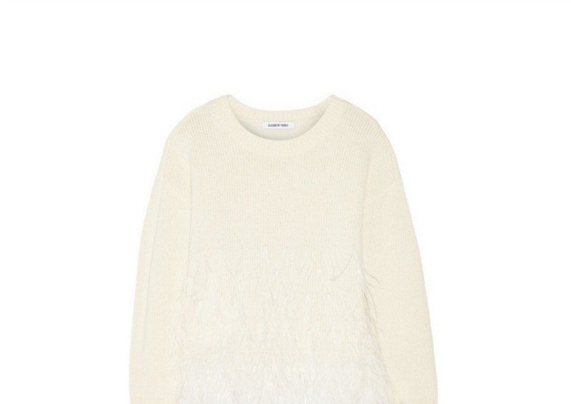shop feather sweater