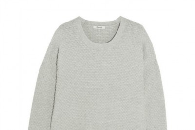 Madewell Bramble Textured Cotton Sweater