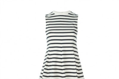 T by Alexander Wang Striped Skater Dress