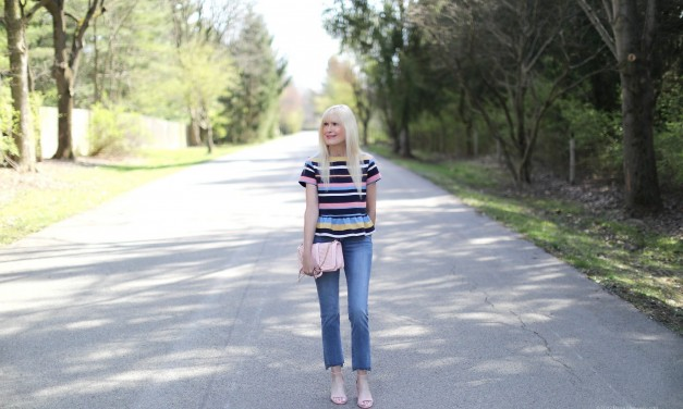 The Perfect Peplum Top And Spring Sandals For Under $80