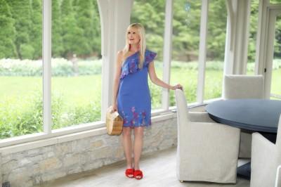 A Vibrant Shift Dress