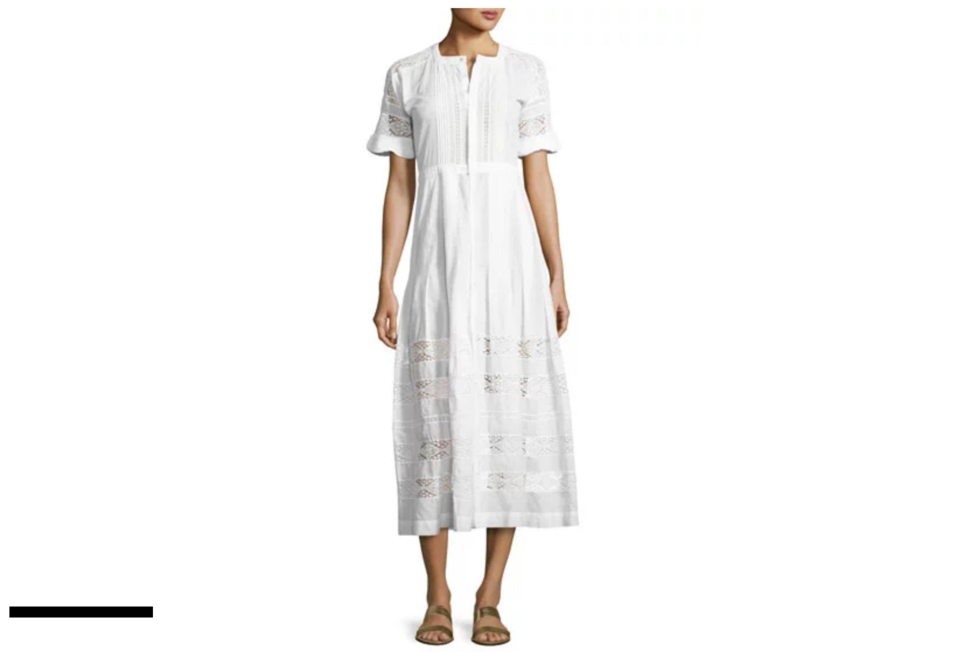 Loveshackfancy Lace-Inset Cotton Dress