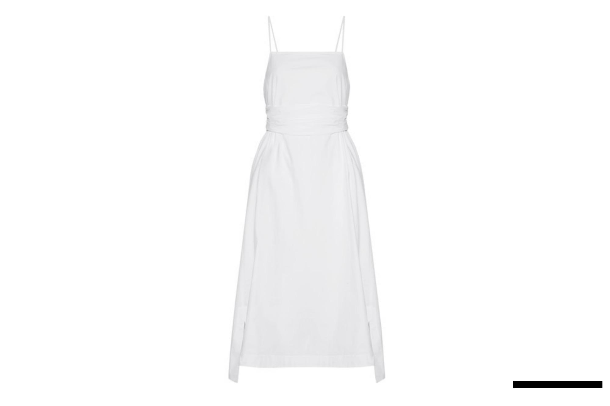 Stretch-Cotton Poplin Midi Dress