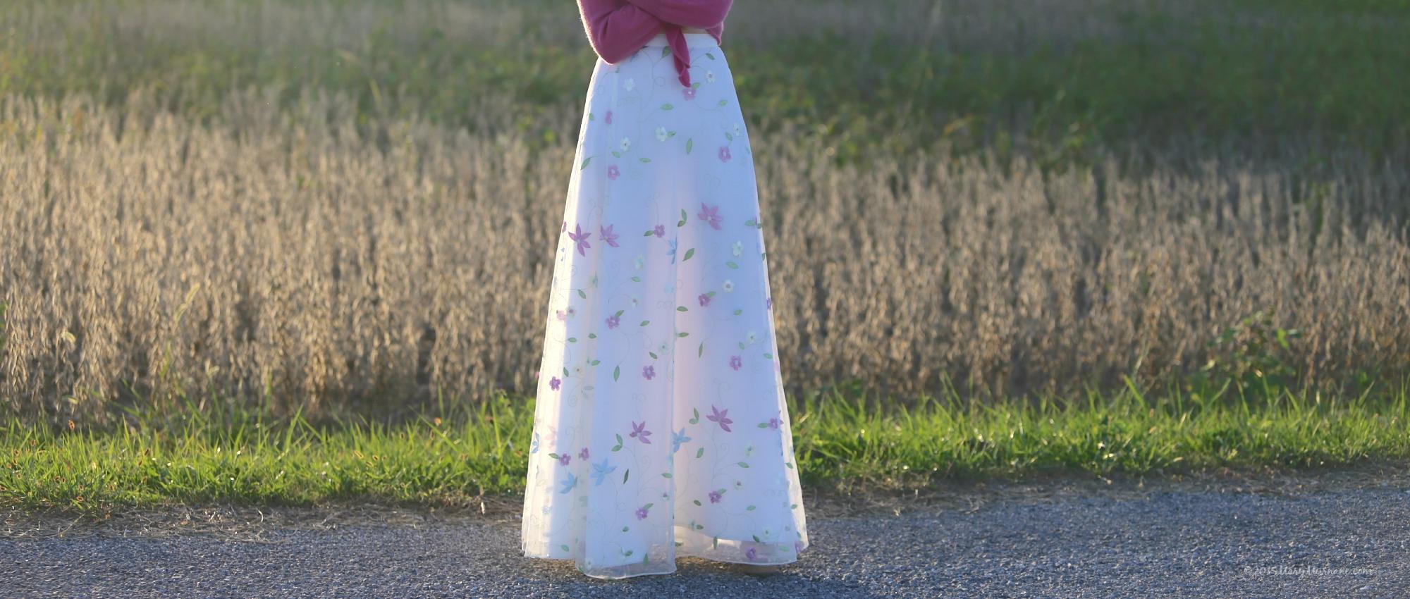 Tulle skirt bottom half