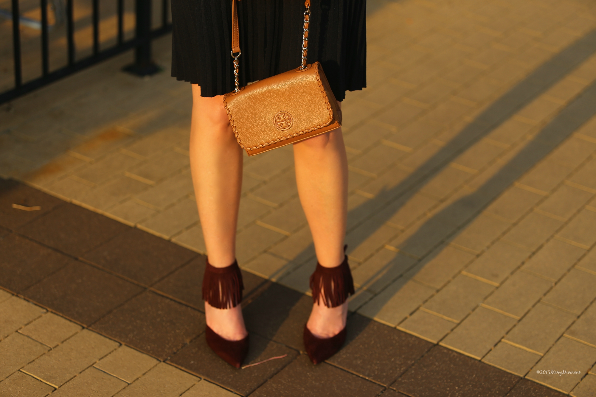 pleated purse
