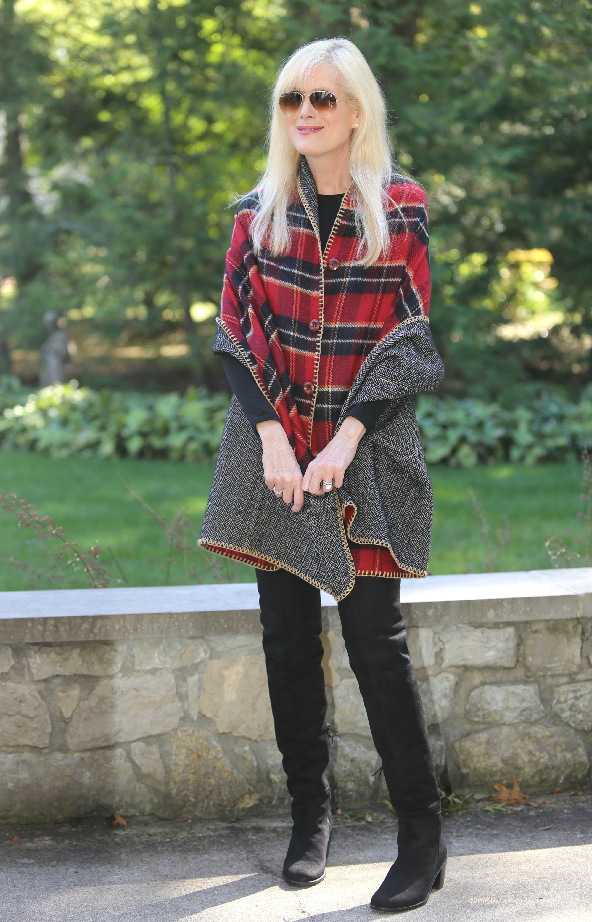 Plaid wrap 3