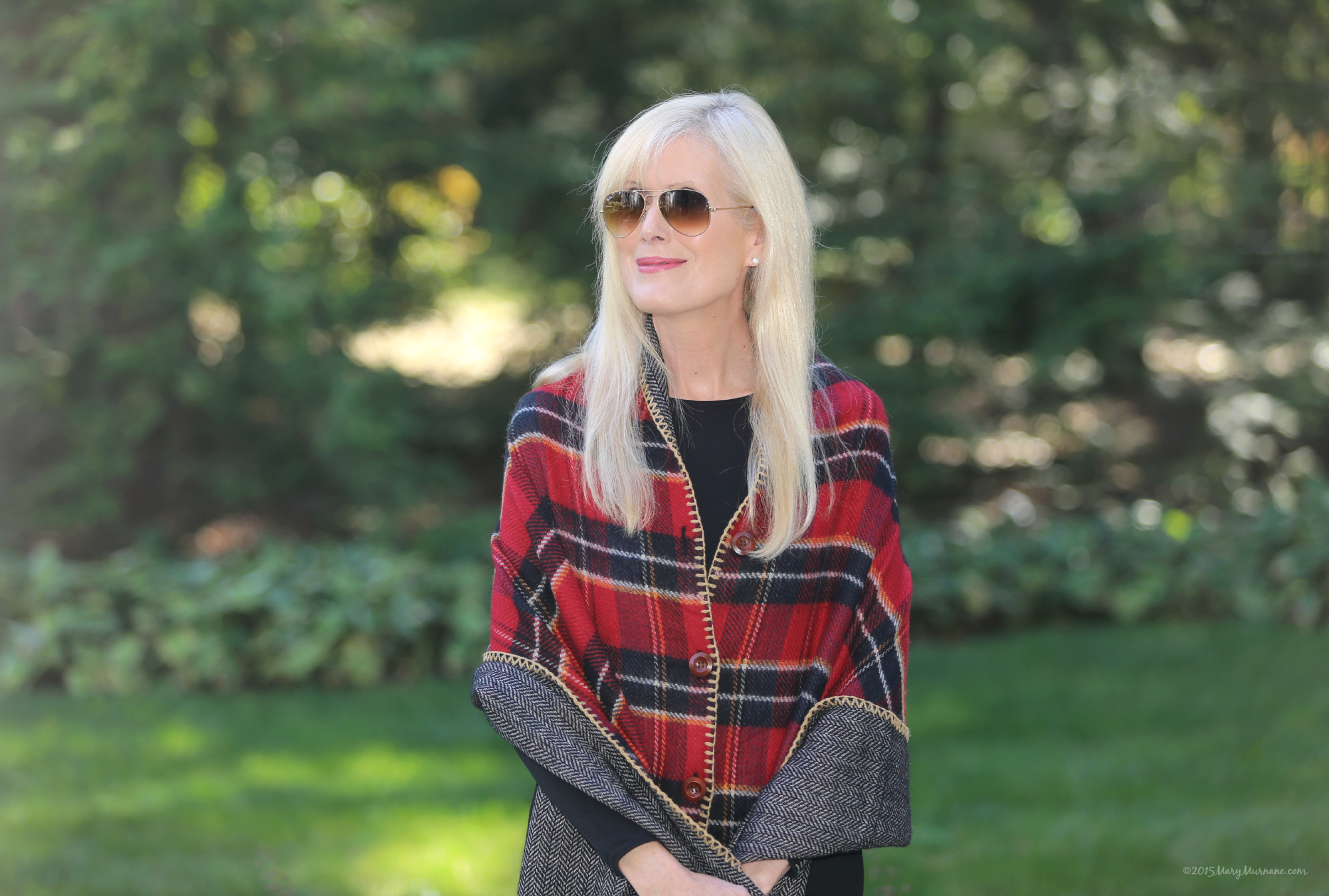 Plaid wrap 4
