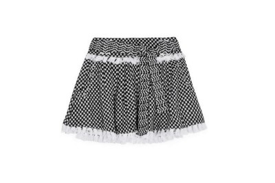Dodo Bar Or Tasseled Cotton-Gauze Mini Skirt