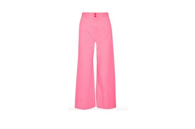 APIECE APART Cropped Crinkled-Cotton Wide-Leg Pants