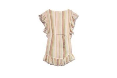 Zimmermann Tropicale Fringed Striped Cotton-Blend Dress