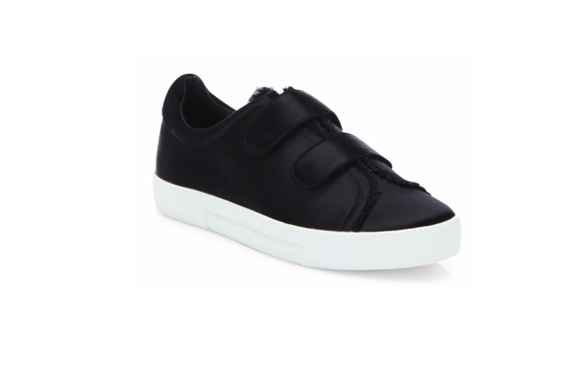 Joie Diata Satin Grip-Tape Sneakers