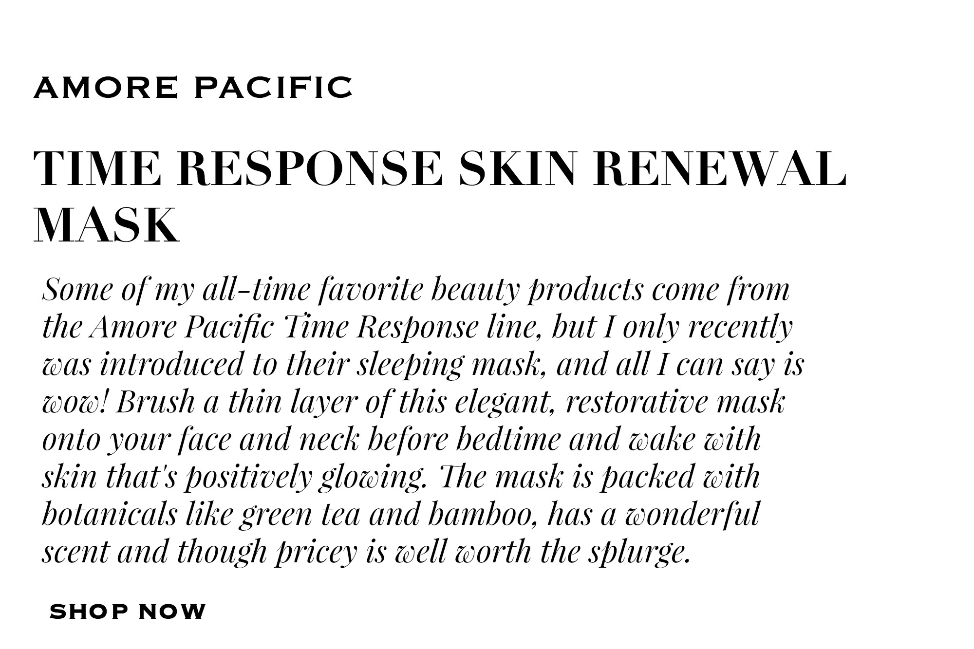 AMORE PACIFIC SKIN RENEWAL MASK