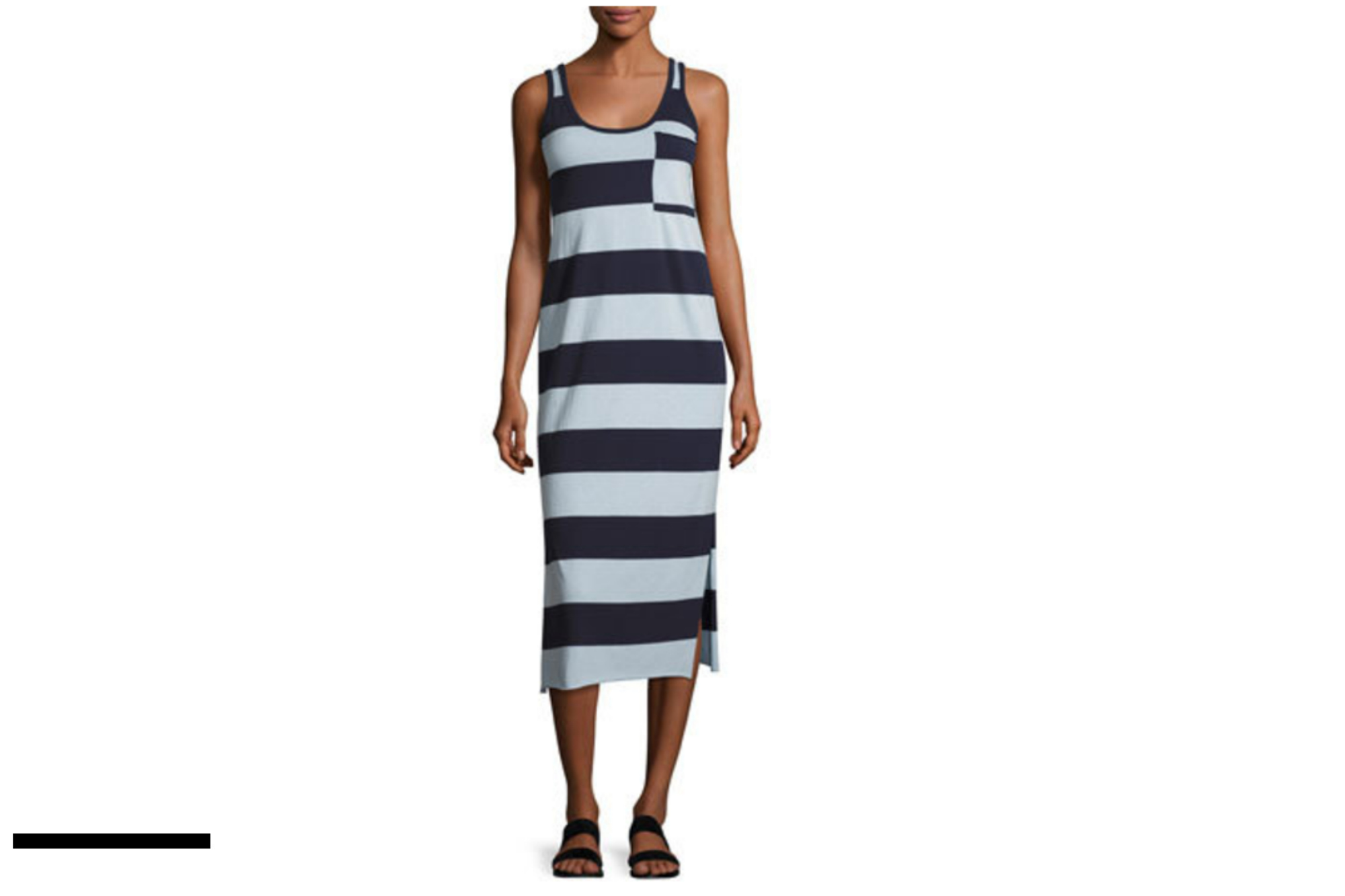 ATM STRIPED MAXI DRESS