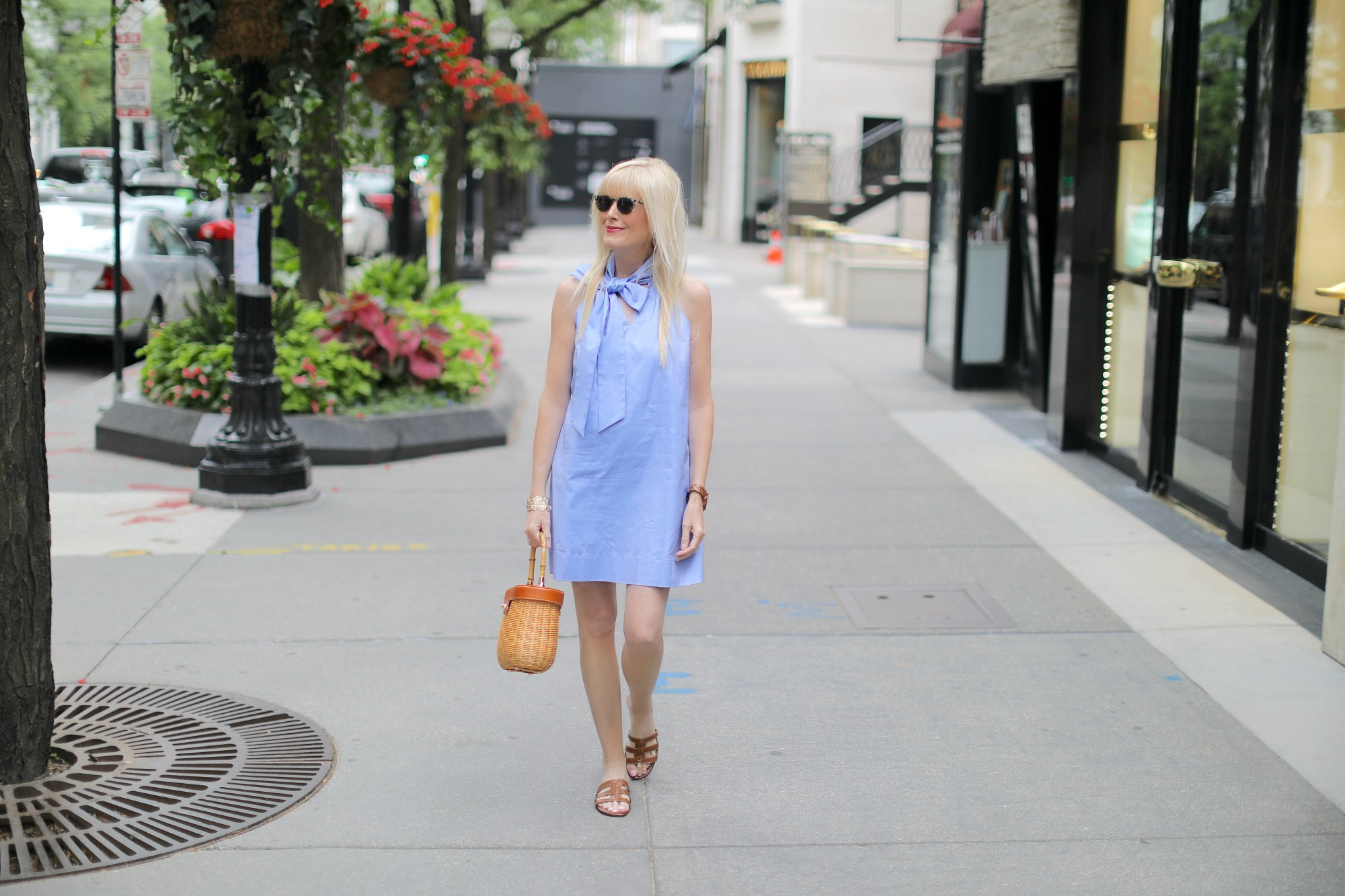 A Bow Embellished Dress