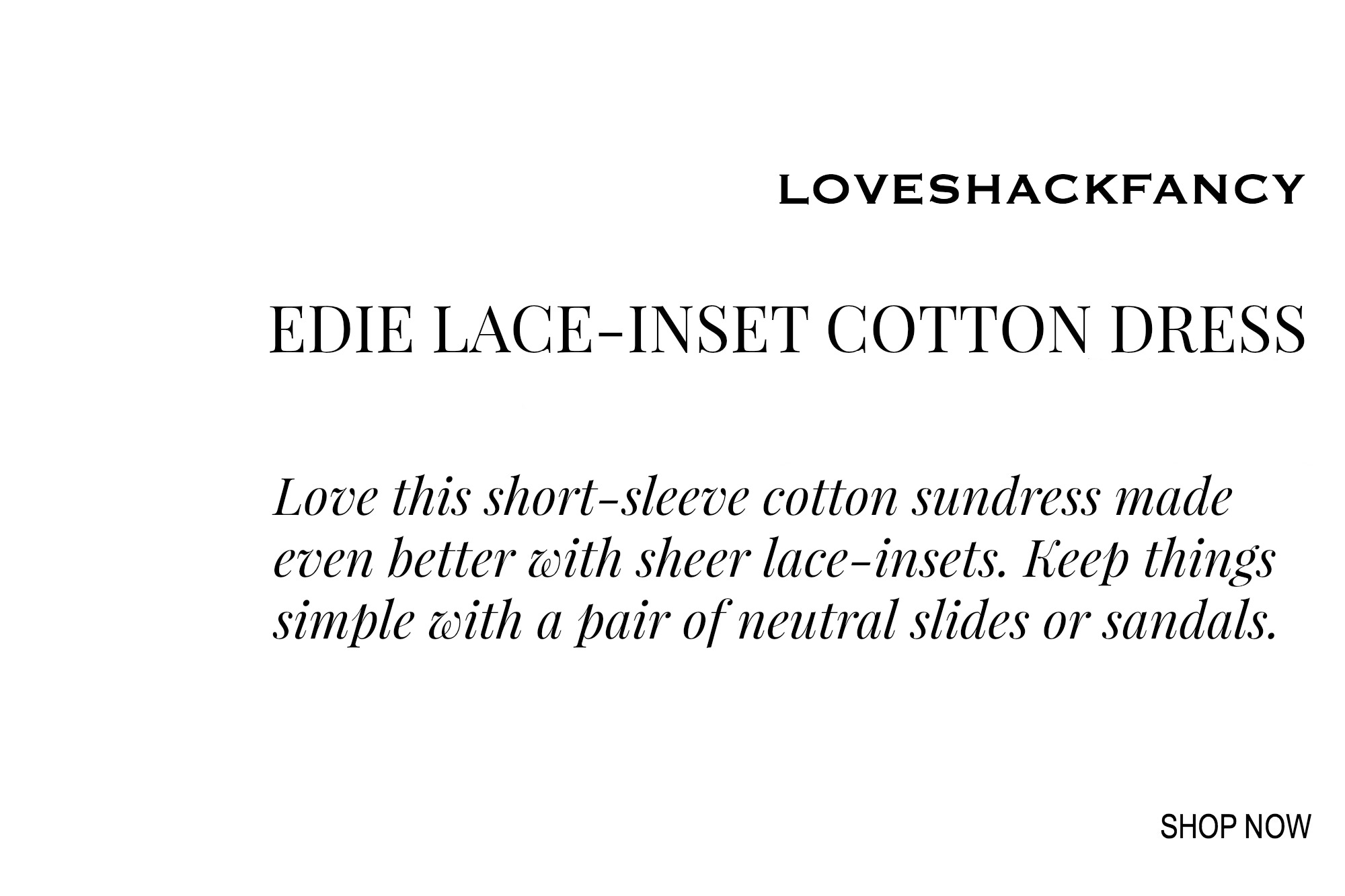 Loveshackfancy Lace-Inset Cotton Dress