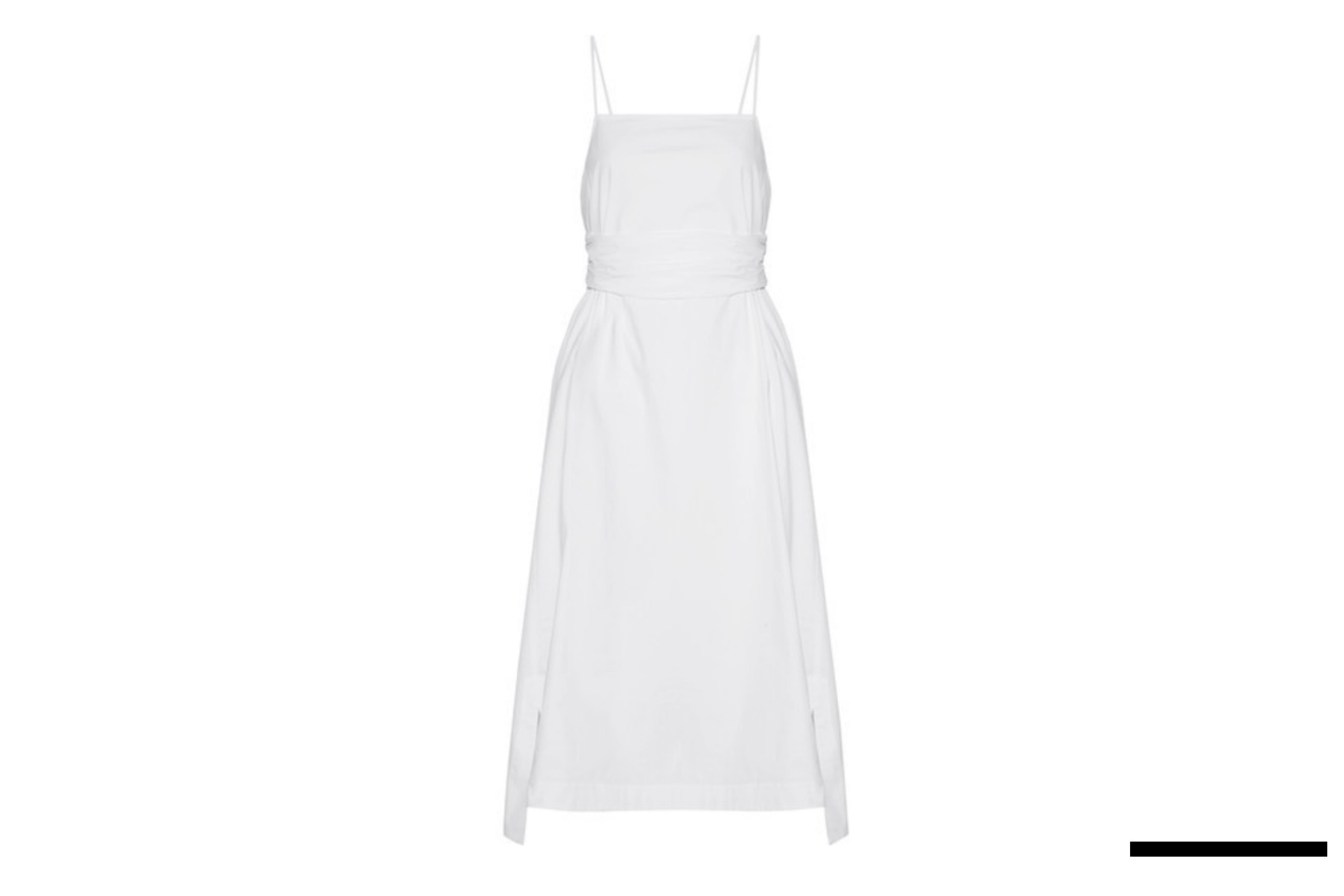 Stretch-Cotton Poplin Midi Dress