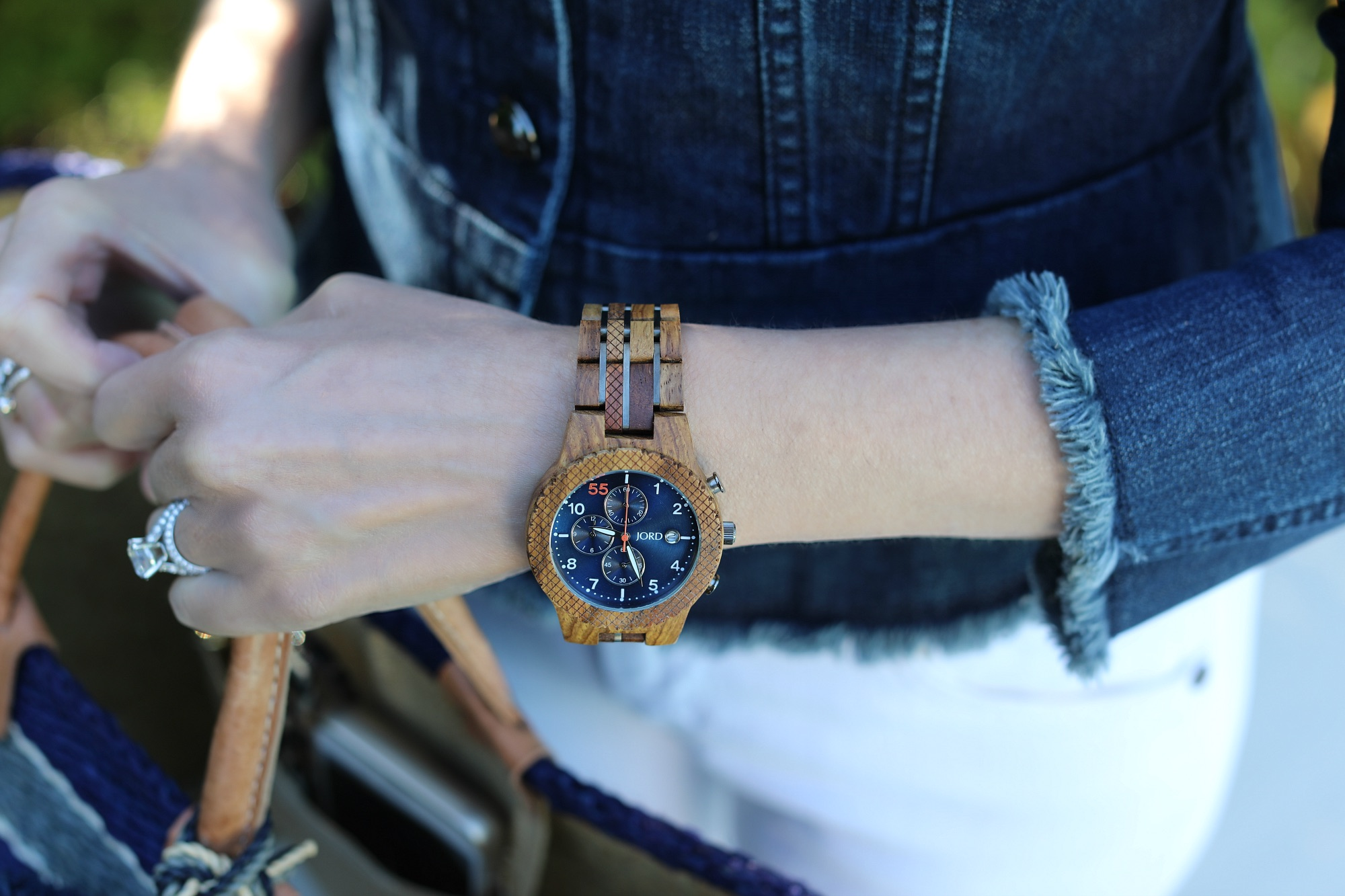 JORD Kosso & Midnight Blue Wood Watch