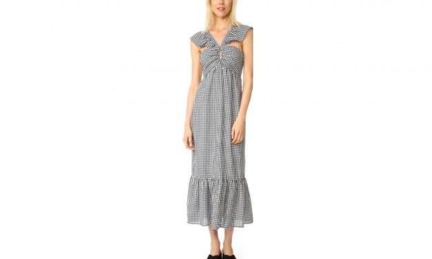 WAYF Gingham Maxi Dress