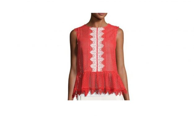 Saloni Lace Peplum Top