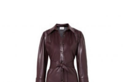 Nanushka Belted Leather Vegan Dress