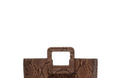Staud Snake-Effect Leather Tote