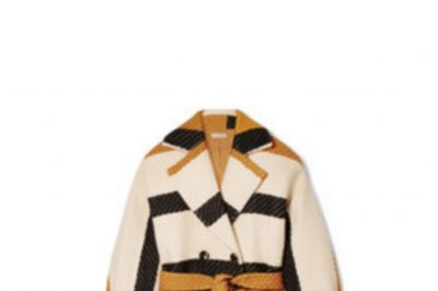 Ulla Johnson Double-Breasted Striped Wool Coat